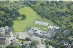 Aerial photo of school and grounds